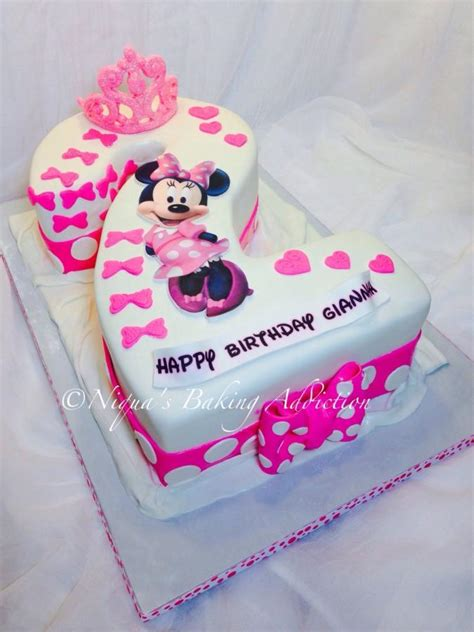 Minnie Mouse Number  Cake Cake By Caked By Niqua
