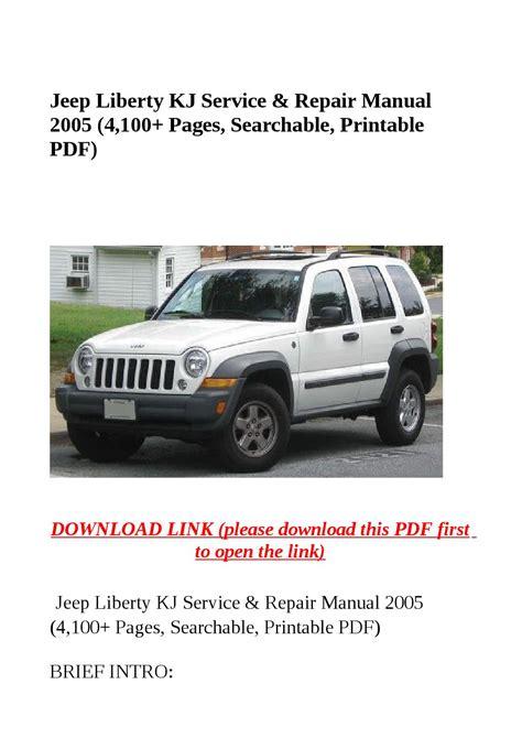 Jeep Liberty Kj Service Amp Repair Manual 2005 4 100 Pages