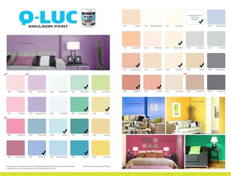 warna cat tembok  lux