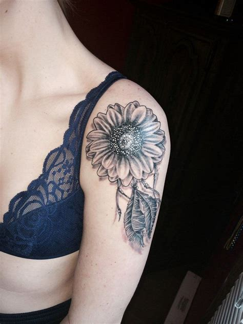 sunflower sleeve tattoo 20 of the most boujee sunflower ideas shoulder
