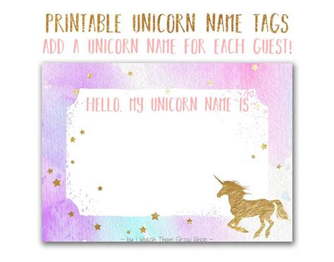 printable unicorn meat label unicorn name tags printable unicorn name stickers unicorn