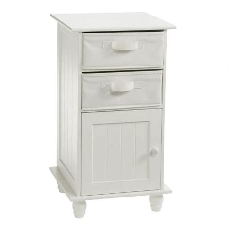 small white 2 drawer storage cabinet tree