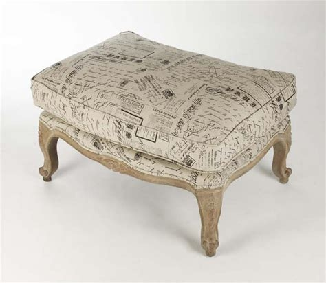 french country ottoman french country literary script linen club chair ottoman