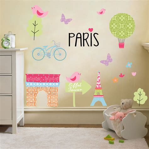 Childrens Kids Themed Wall Decor Room Stickers Sets Nursery Decor Stickers