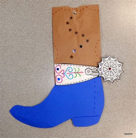 cowboy crafts for tippytoe crafts paper bag cowboy boots