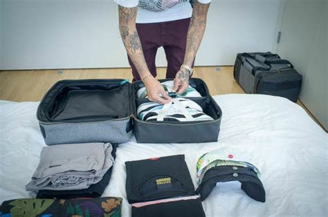 sneaker duffle bag pack your sneakers the right way with shrine s weekender