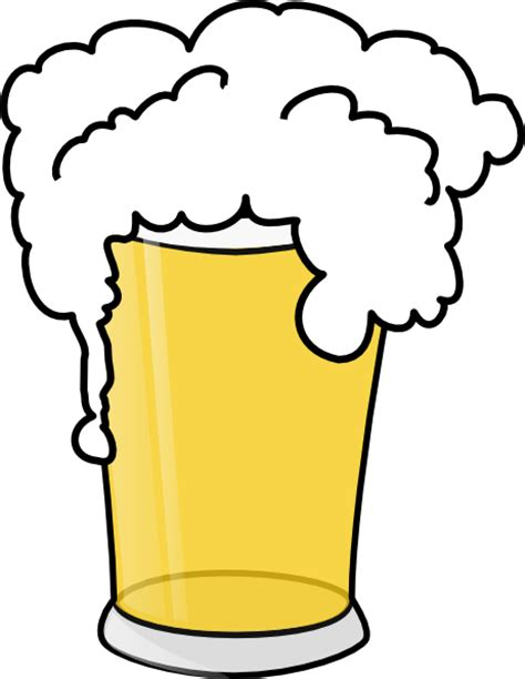 cartoon beer pint simple pint glass clip art at clker com vector clip art