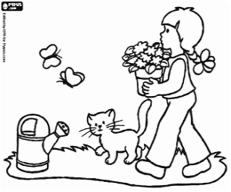 i gatti los gatos open table children coloring pages printable