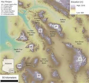 map of arizona mountain ranges my