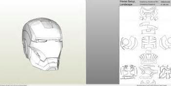 Ironman Helmet Template by Papercraft Pdo File Template For Ironman 6 Armor