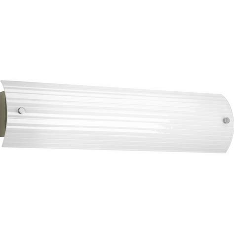 Fluorescent Bathroom Lighting Fixtures Progress Lighting P7218 09eb 2 Light Ribbed Linear Bath Family Linear Fluorescent Vanity Fixture