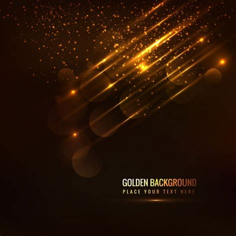 lights with glowing golden background with light details vector free
