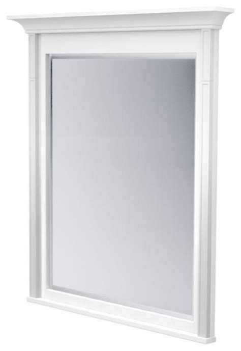 Kraftmaid Mirrors 42 In L X 36 In W Framed Wall Mirror Kraftmaid Bathroom Mirrors