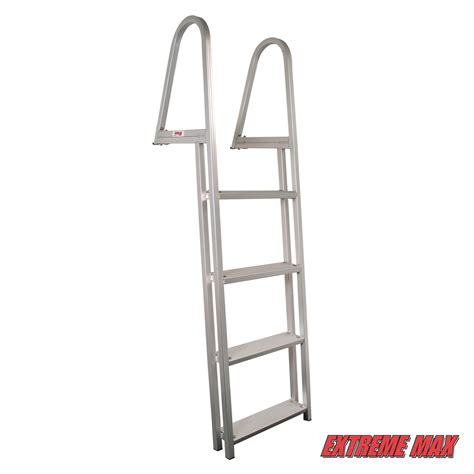 boat ladder aluminium extreme max boarding ladder ladder dock ladder pontoon