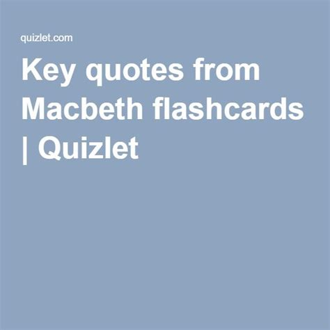 Macbeth Themes Quizlet | 1000 ideas about the tragedy of macbeth on pinterest