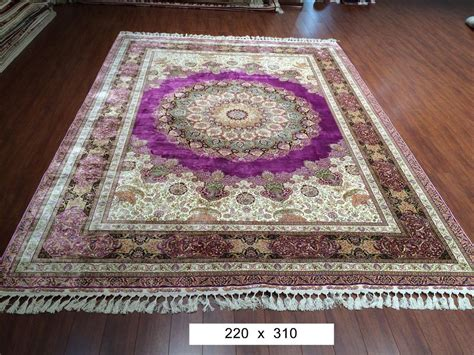 Handmade Silk Rugs - large purple bedroom turkish area rugs