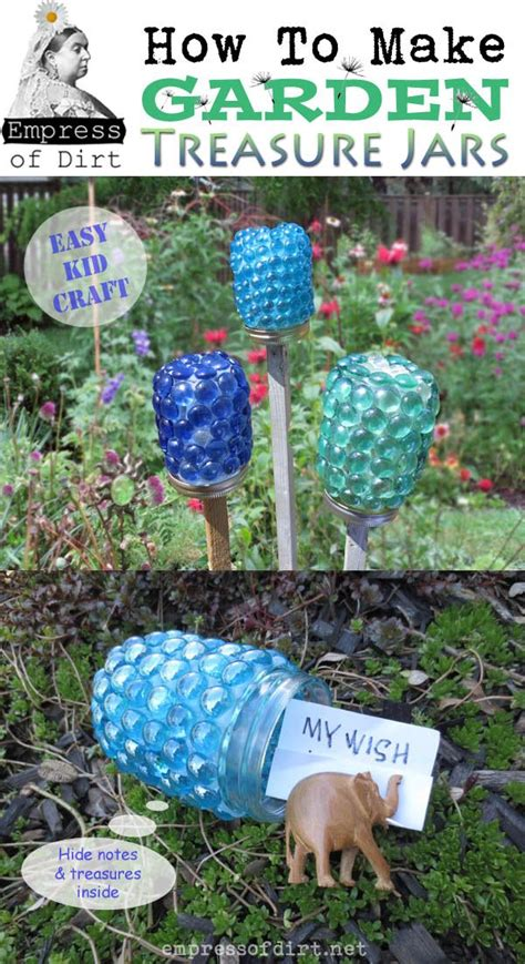 craft ideas for the garden how to make garden treasure jars easy kid craft