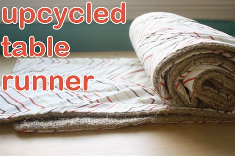 how to make a repurposed table runner crafting a green