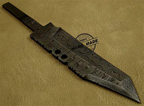 custom knife blanks damascus skinner blank blade knife custom handmade