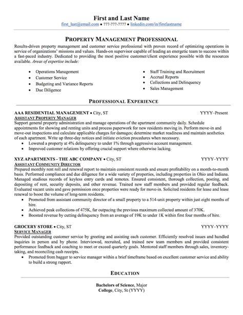 property management resume samples property management resume