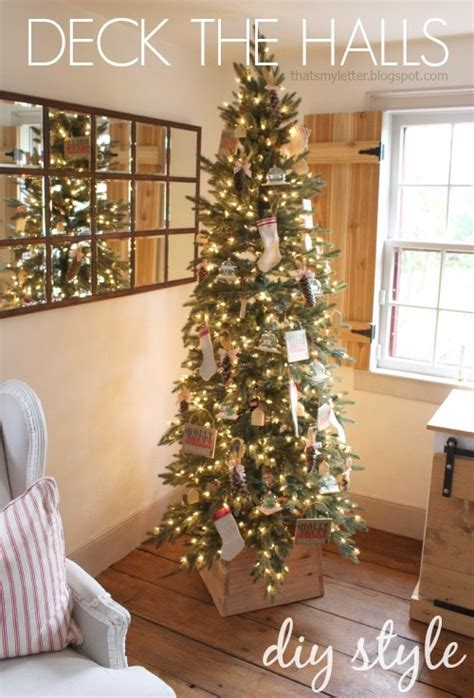 show me thin decorated trees deck the halls diy style jaime costiglio