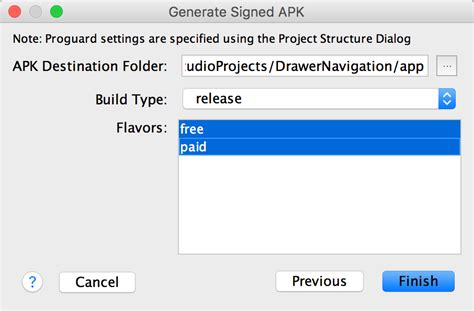 android studio generate apk sign your app android studio