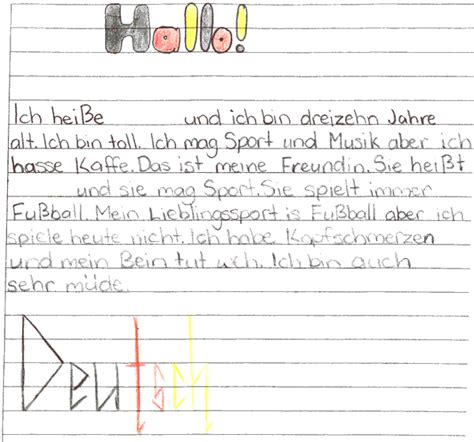 Introduction Letter German Arc Introducing Yourself And A Friend Stacey