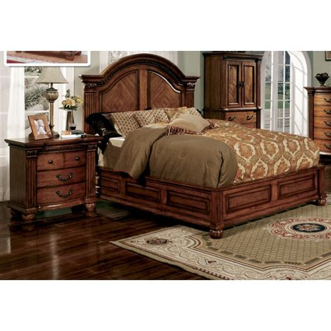 Oak California King Bed Perry Antique Tobacco Oak California King Bed