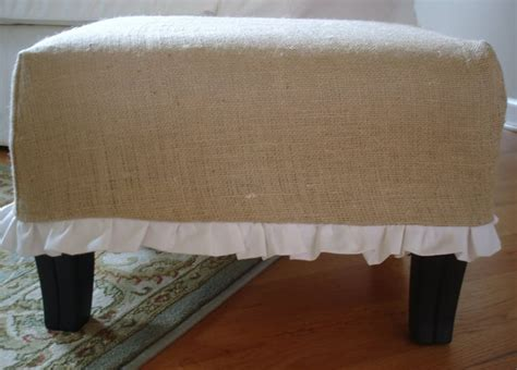 burlap ottoman slipcover make and easy burlap covered ottoman tutorial and 45 best