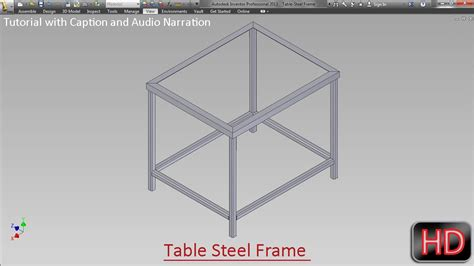 how to a table l fabrication of frame for table by frame generator