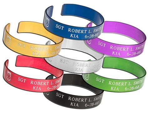 Custom Kia Bracelets by Pow Kia Memorial Bracelets Custom Engraved With