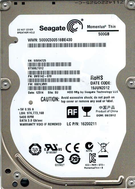 Harddisk Hdd 25 Merk Seagate 500gb St500lt012 click on thumbnails to enlarge