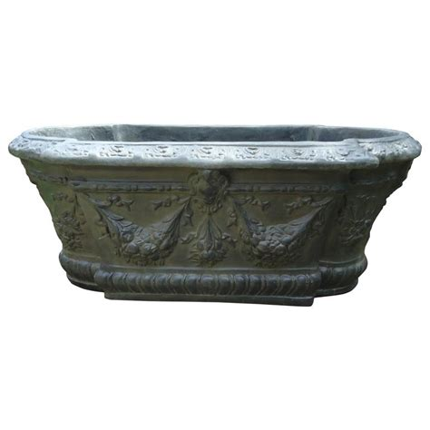 Faux Planters by Faux Black Iron Fiberglass And Resin Oval Style