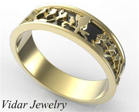 Wedding Rings Leaves by Leaves Wedding Band Vidar Jewelry Unique Custom