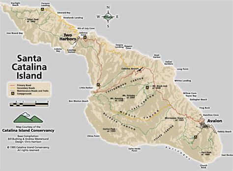 santa island road and trail map santa