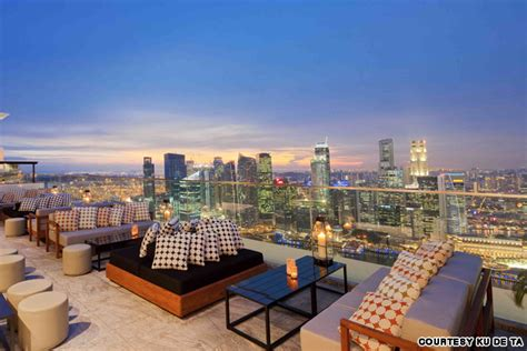 roof top bars singapore best singapore rooftop bars cnn travel