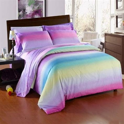Rainbow Comforter by Rainbow Colored Bedding The Interior Design Inspiration
