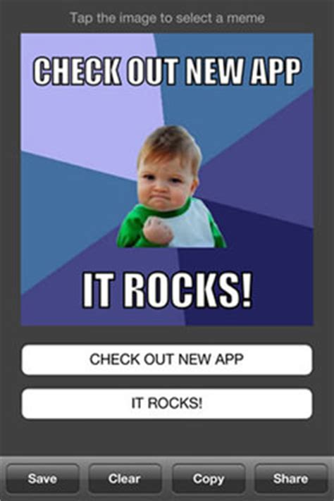 Meme Creating App - make your own meme 20 meme making iphone apps hongkiat