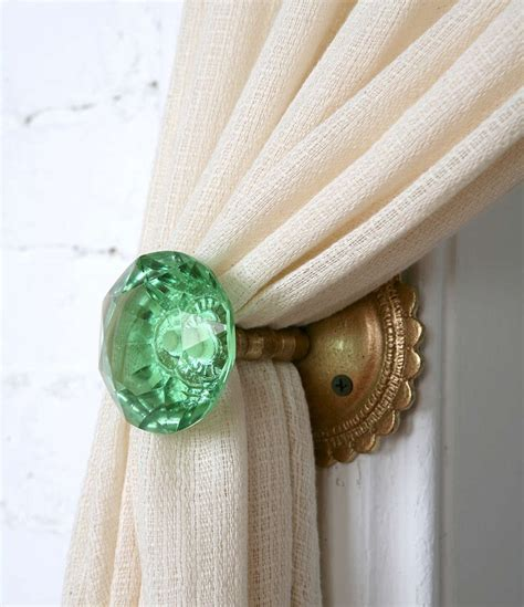 Curtain Knob Holdbacks by 8 Creative Ways To Decorate With Glass Door Knobs