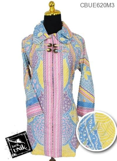 Prada Wanita Soft Sobek Puring 1 blus panjang sobek bulu motif kembangan soft blus lengan panjang murah batikunik