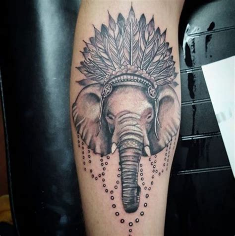 headdress tattoo elephant with headdress
