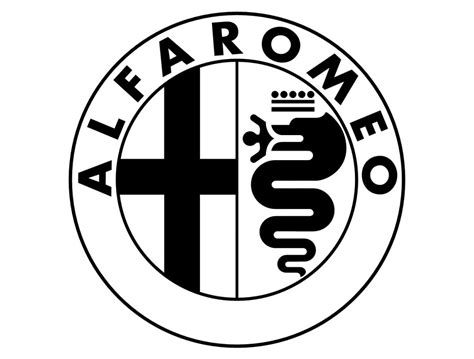 car logo black and white alfa romeo car logo