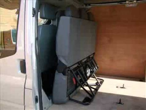 fold down bench seat for van folding seat fitted in van youtube