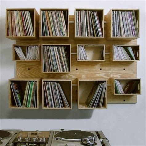 diy record storage ideas plywood vinyl record storage