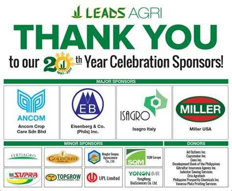 Thank You To Our Advertisers 2 by Thank You To Our 20th Year Celebration Sponsors Leads