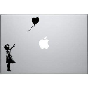 Decal And Sticker Macbook Balon banksy s with balloon macbook decal techie stuff