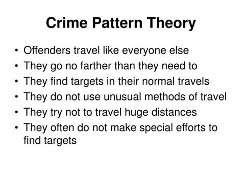 crime pattern theory review ppt crime theory powerpoint presentation id 667696