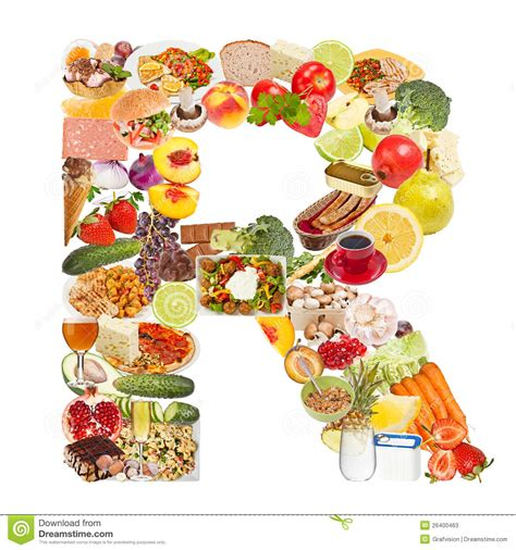 up letter with food letter r made of food stock photos image 26400463