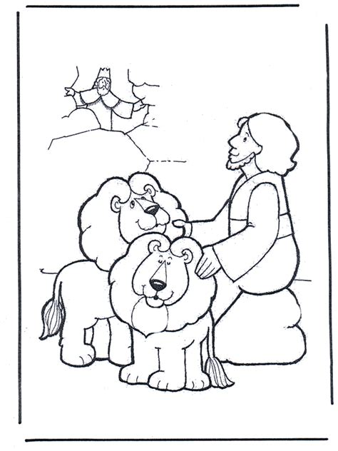 Daniel And The Lions Den Coloring Page daniel the lions den coloring page az coloring pages