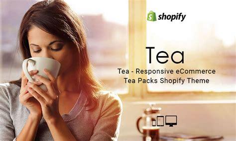 shopify themes tea tea responsive ecommerce tea packs shopify theme themetidy